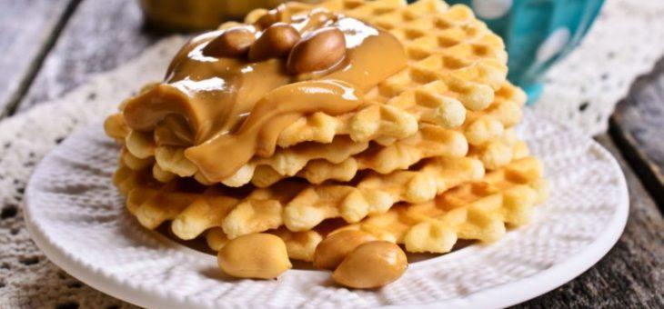 Pindakaas wafels